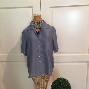 Blue Silk Shirt.